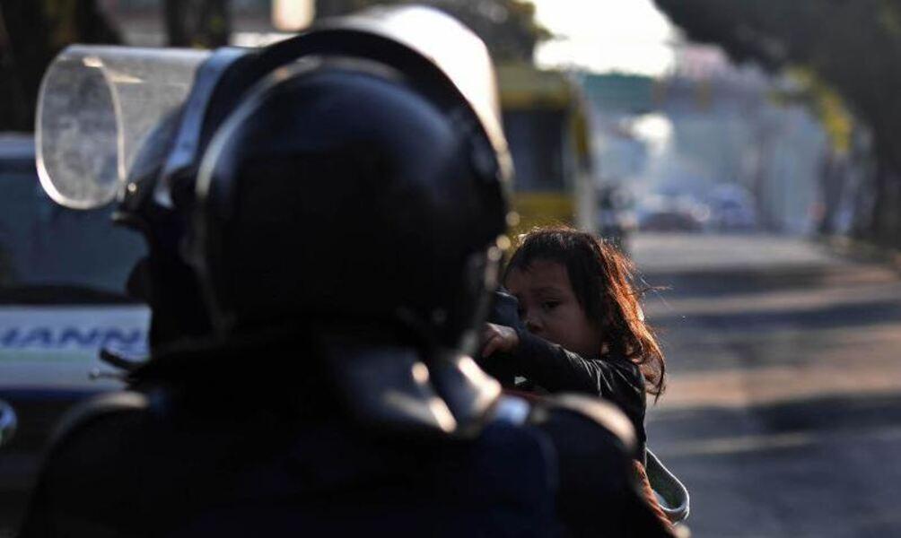 mexikanische Stadt Mädchen