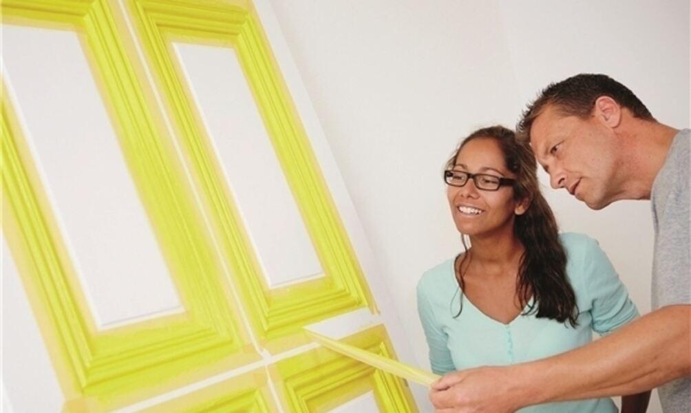 t ren fachgerecht lackieren. Black Bedroom Furniture Sets. Home Design Ideas